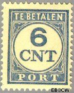 Nederland NL P70  1921 Portzegel 6 cent  Gestempeld