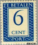 Nederland NL P84  1947 Portzegel 6 cent  Gestempeld