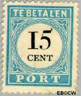 Nederland NL P9  1881 Portzegel 15 cent  Gestempeld
