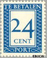 Nederland NL P94  1947 Portzegel 24 cent  Gestempeld