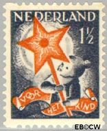 Nederland NL R98  1933 Drie-koningenfeest 1½+1½ cent  Gestempeld