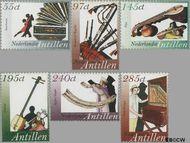 Nederlandse Antillen NA 1615#1620  2005 Muziekinstrumenten 52 cent  Postfris