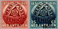 Nederlandse Antillen NA 209#210  1949 Wereldpostvereniging  cent  Gestempeld