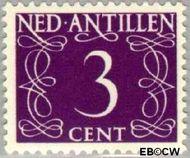 Nederlandse Antillen NA 215  1950 Type 'van Krimpen' 3 cent  Gestempeld