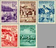 Nederlandse Antillen NA 234#238  1951 Kinderspelen  cent  Gestempeld