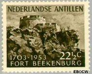 Nederlandse Antillen NA 245  1953 Fort Beekenburg 22½ cent  Gestempeld