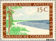 Nederlandse Antillen NA 255  1955 Caraïbische Commissie 15 cent  Gestempeld