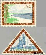 Nederlandse Antillen NA 255#256  1955 Caraïbische Commissie  cent  Gestempeld