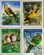 Nederlandse Antillen NA 271#274  1958 Vogels  cent  Gestempeld