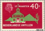 Nederlandse Antillen NA 285  1958 Landschappen 40 cent  Gestempeld