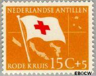 Nederlandse Antillen NA 295  1958 Rode Kruis en Ned. Antillen 15+5 cent  Gestempeld