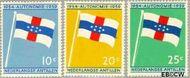 Nederlandse Antillen NA 304#306  1959 Koninkrijks Statuut  cent  Postfris