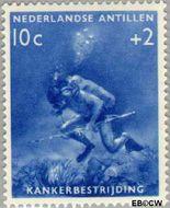 Nederlandse Antillen NA 315  1960 Kankerbestrijding 10+2 cent  Gestempeld