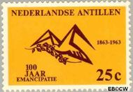 Nederlandse Antillen NA 336  1963 Emancipatie 25 cent  Gestempeld