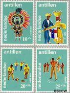 Nederlandse Antillen NA 410#413  1969 Folklore  cent  Gestempeld