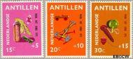 Nederlandse Antillen NA 442#444  1971 Speelgoed  cent  Gestempeld
