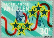Nederlandse Antillen NA 476  1973 Nieuwe telefoonkabel 30 cent  Gestempeld