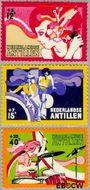 Nederlandse Antillen NA 489#491  1974 Activiteiten jeugd  cent  Gestempeld