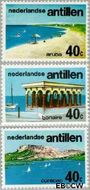 Nederlandse Antillen NA 518#520  1976 Toerisme 35 cent  Postfris