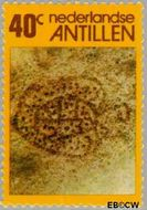 Nederlandse Antillen NA 536  1977 Rotstekeningen 40 cent  Gestempeld