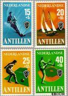 Nederlandse Antillen NA 576#579  1978 Sport  cent  Gestempeld