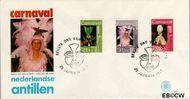 Nederlandse Antillen NA E100  1977 Carnaval  cent  FDC zonder adres