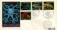 Nederlandse Antillen NA E38  1965 Zeeleven 10 cent  FDC zonder adres
