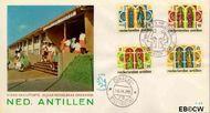 Nederlandse Antillen NA E43  1966 Middelbaar Onderwijs 25+11 cent  FDC zonder adres