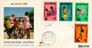 Nederlandse Antillen NA E62  1970 Activiteiten kinderen 6 cent  FDC zonder adres