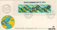 Nederlandse Antillen NA E78  1973 Nieuwe telefoonkabel 25 cent  FDC zonder adres