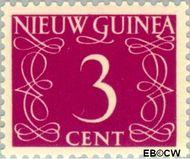 Nieuw-Guinea NG 4  1950 Type 'van Krimpen' 3 cent  Gestempeld