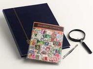 Postzegelpakket  West Europa inc.insteekboek,pincet en loupe