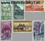 SPA 1277#1282 Postfris 1961 Kloosters en abdijen