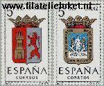 SPA 1370#1371 Postfris 1962 Provinciewapens