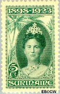 Suriname SU 104  1923 Regeringsjubileum Wilhelmina 1898-1923 5 cent  Gestempeld