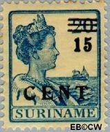 Suriname SU 114  1925 Hulpuitgifte 15 op 20 cent  Gestempeld