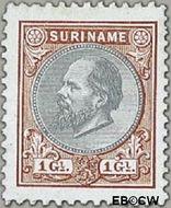 Suriname SU 14  1888 Eerste emissie 100 cent  Gestempeld