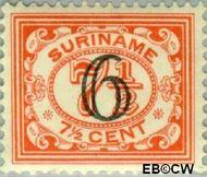 Suriname SU 145  1930 Hulpuitgifte 6 op 7½ cent  Gestempeld