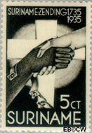 Suriname SU 155  1935 Zendingswerk 5+2½ cent  Gestempeld