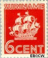 Suriname SU 165  1936 Scheepje 6 cent  Gestempeld