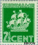 Suriname SU 195  1941 Scheepje 2½ cent  Gestempeld