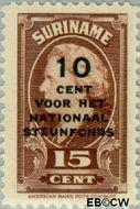 Suriname SU 215  1945 Steunfonds 15+10 cent  Gestempeld