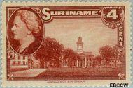 Suriname SU 225  1945 Wilhelmina en landschappen 4 cent  Gestempeld