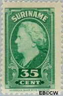 Suriname SU 235  1945 Koningin Wilhelmina 35 cent  Gestempeld