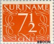 Suriname SU 256  1948 Cijferzegels 7½ cent  Gestempeld