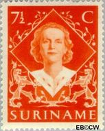 Suriname SU 276  1948 Inhuldiging Juliana 7½ cent  Gestempeld