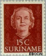 Suriname SU 286  1951 Type 'En Profile' 15 cent  Gestempeld