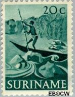 Suriname SU 306  1953 Inheemse voorstellingen 20 cent  Gestempeld