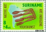 Suriname SU 336  1960 Opening nieuw postkantoor 8+4 cent  Gestempeld