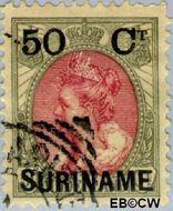 Suriname SU 34  1900 Hulpuitgifte 50 op 50 cent  Gestempeld